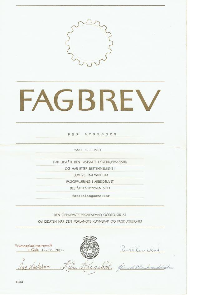 Fagbrev Per